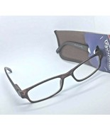 "Foster Grant Eyesential ""Jude"" Brown Reading Glasses with Case +3.00 - $6.93"
