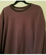MENS PATAGONIA FLEECE PULLOVER CREWNECK SWEATER XL BURGUNDY JACKET  - $38.75