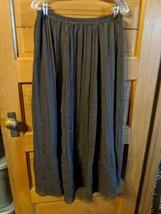 Coldwater Creek Womens Brown Skirt Sz M Medium No Slit Crinkle Floral Lined - $16.98
