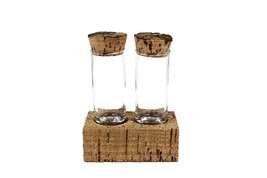 KIT DE MATIÈRES À MAIN CORDé 2 Gâteaux à épices en verre avec bouchons e... - £20.95 GBP