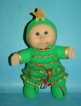 """Holiday CPK Cabbage Patch Kid Baby Doll 12"""" Girl BLUE Eyes Xmas Tree Plush 2007 - $24.16"""
