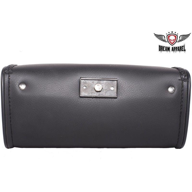 Motorcycle Windshield Bag Leather Waterproof Braided Harley Sportster Softail image 4