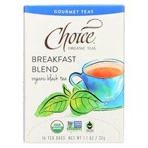 Choice Organic Gourmet Black Tea - Breakfast Blend - Case of 6 - 16 Count - $33.99