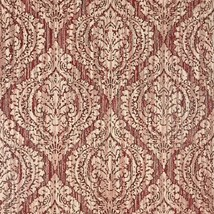 Wallpaper red burgundy rustic textured Victorian ogree diamond vintage d... - $3.50+