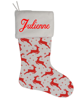 Julienne Custom Christmas Stocking Personalized Burlap Christmas Decoration - $17.99