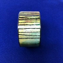 Lia Sophia Clamper Stretch Bracelet Green Black Striped Jungle - $11.08