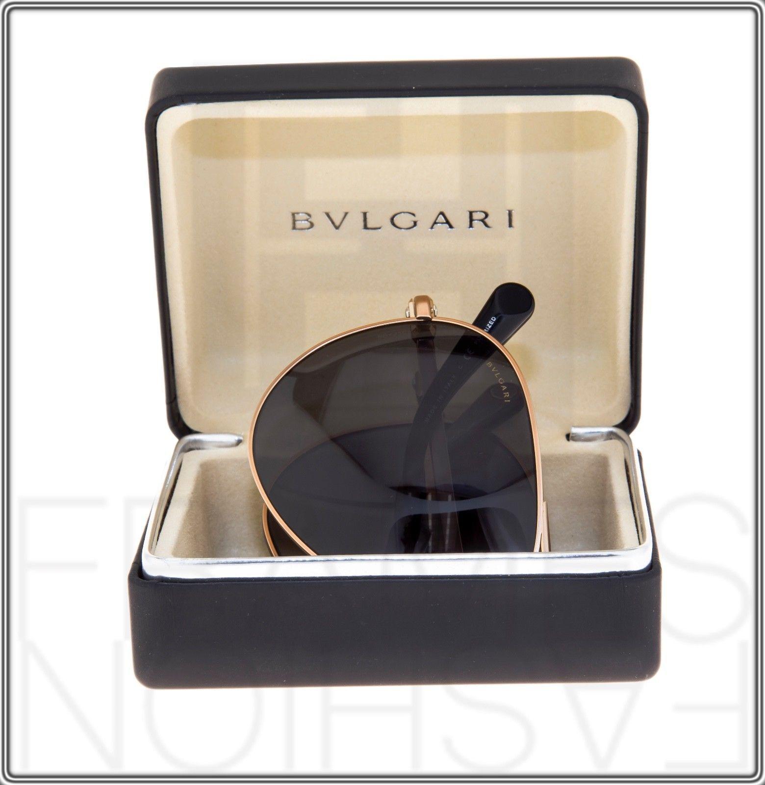 BVLGARI Le Gemme Black Rose Gold 18K Plated POLARIZED Foldable Sunglasses 5034 image 7