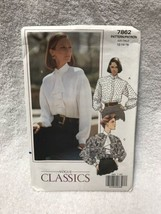 Vogue Classics 7862 Misses Misses Petite Blouse Sewing Pattern - $14.84