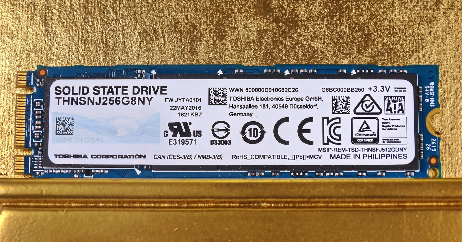 Primary image for Toshiba 256GB PCle M.2 SATA Internal SSD THNSNJ256G8NY