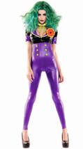 Sexy Party King Purple Comic Villain Joker Wet Look Costume PK460 - $54.99