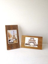 Eiffel Tower - Item 8879 - Wooden Decoupage Two Signs - On Reclaimed Wood - $35.00