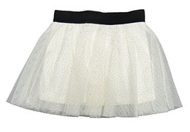 Epic Threads White Gold Sparkle Tutu with Tulle Skirt Holiday Ivory 6 - £7.64 GBP