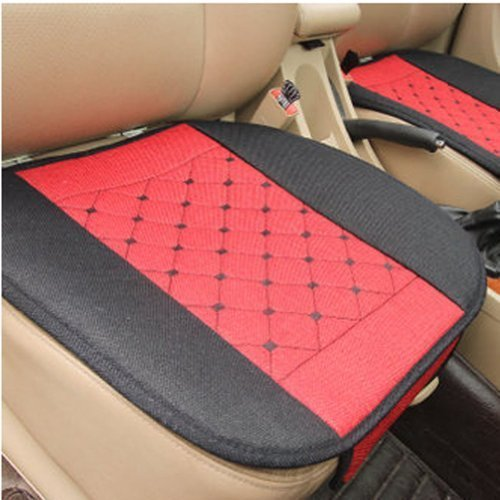 PANDA SUPERSTORE Set of 3 Auto Parts/General Car Cushion(No Backrest),RED
