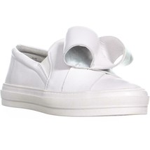 Nine West Odienella Bow Tie Slip On Sneakers, White Multi, 5 US - $38.39