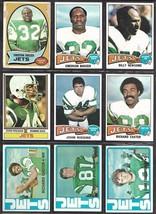 New York Jets Topps 1970's Football Card Lot incl. John Riggins Emerson Boozer - $6.35