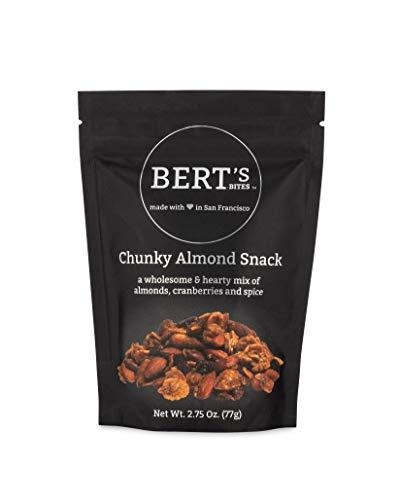 Bert's Bites Chunky Almond Snack 2.75oz snackable bag - Delicious Wholesome Hear