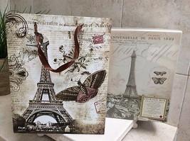 Storage Box and Note Pad Paris Eiffel Tower, Punch Studio Brand. - $29.25