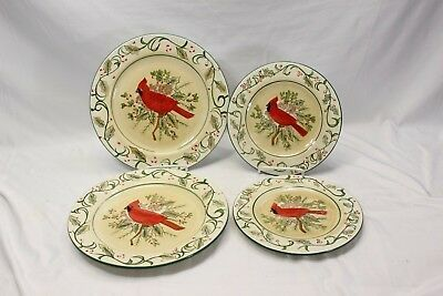 Primary image for Century Cardinal Xmas Dinner and Salad Plates Lot of 4