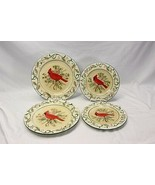 Century Cardinal Xmas Dinner and Salad Plates Lot of 4 - $37.23