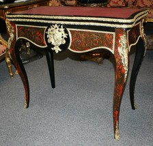 19th Century Antique French Louis XV Style Ormolu Inlaid Boulle Game Car... - $4,455.00