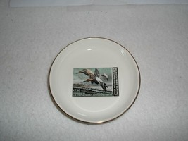 1982-83~CANVASBACK~MAINE DUCKS UNLIMITED~GOLD TRIM DISH - $14.84