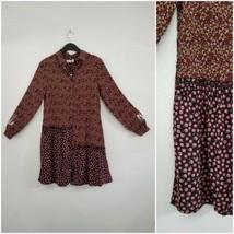 Zara Girl Soft Collection Floral Long Sleeve Boho Dress Size 11-12 - $28.70