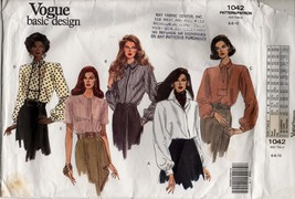 Vogue Sewing Pattern 1042 Basic Design very loose fitting blouse - $8.06