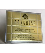 Borghese Virtuale Flawless SPF 15 Foundation BISCOTTO NEW BOXED - $28.50