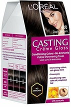 L'Oreal Paris Casting Creme Gloss, Dark Brown 400, 87.5g+72ml FREE SHIP - $19.70