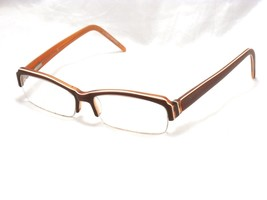 Christian Dior Women's Semi Rimless Eyeglasses Frame, Brown 55-14-135  #F74 - $35.59