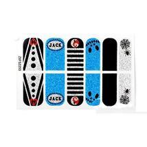 [Set of 2]Easily Apply 12 PCS Glitter Bling Nail Polish Sticker, Jack