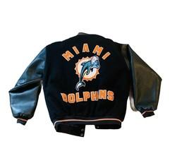 Jimmy Johnson Coach Memorabilia Miami Dolphins Jacket Coat HOF leather vtg Patch - $742.50