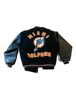 Jimmy Johnson Coach Memorabilia Miami Dolphins Jacket Coat HOF leather v... - $742.50