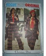 Vogue Paris Christian Dior Misses Size 12 Jacket Skirt Shorts Shirt Tie ... - $35.00