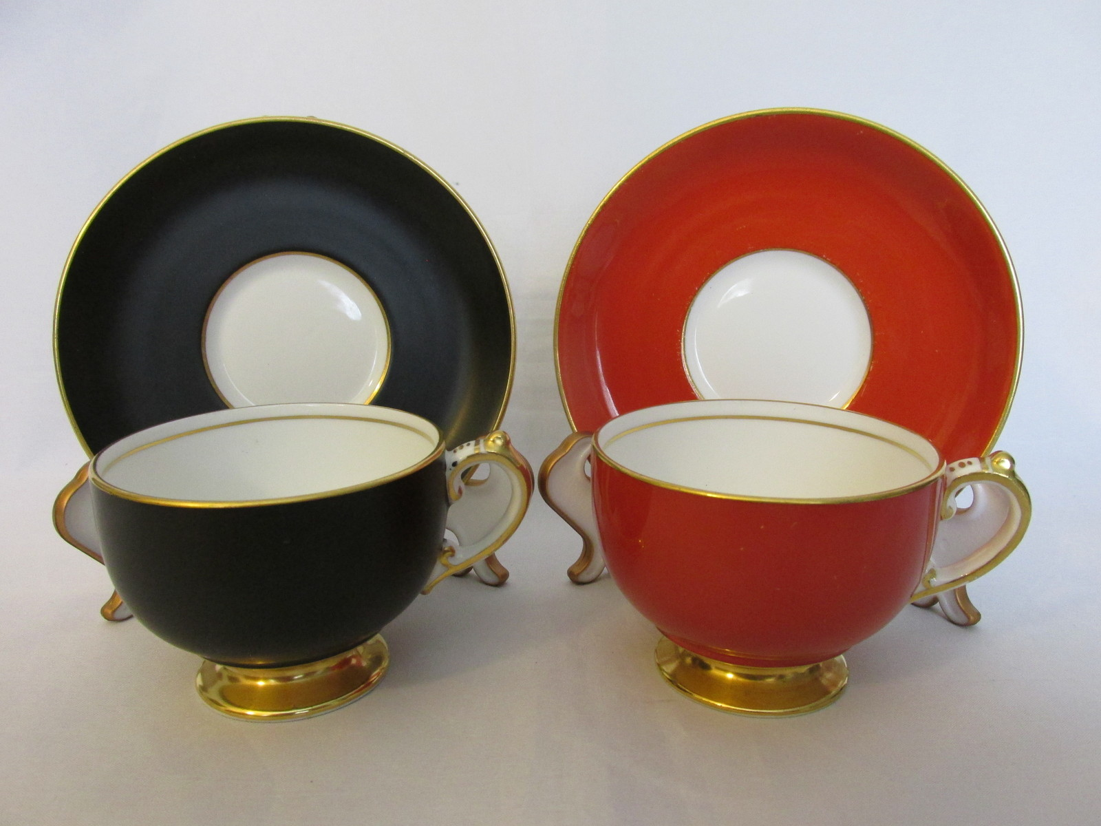 Vintage Demitasse Bone China Cup & Saucer Sets, Copelands Grosvenor, 1930s-'50s