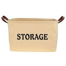 SHINYTIME Ideal Canvas Storage Basket Bins Large Organizer Toy Laundry S... - $18.70