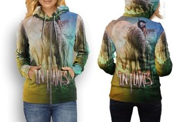 hoodie women zipper in flames - $48.99+