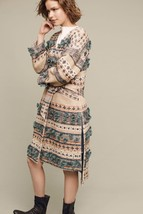 NWT $648 ANTHROPOLOGIE TEXTURED TASSEL WRAP COAT by TRYB L - $218.49