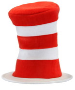 Dr. Seuss The Cat In The Hat Deluxe Velboa Costume Cat Hat, Adult NEW UN... - $19.34