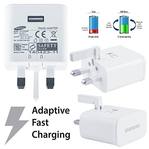 Samsung Original 2-A Mains UK Wall Charger EP-TA20UWE for Samsung Galaxy S6 G920