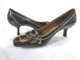Cole Haan Pumps Womens Sz 8 AA Brown Penny Loafer Bit Heel Shoes - $14.36
