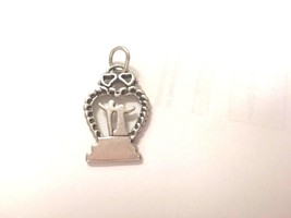 Vtg Wedding Couple Charm Sterling Silver Cake Topper Bridal Bridesmaid B... - $18.76