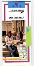British Airway London Map 1993 British Tourist Authority - $14.83