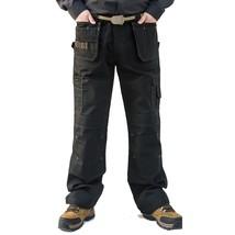 Men Heavy Duty Cargo Pants Multi-Pocket Canvas Casual Long Duty Tactical... - $54.51