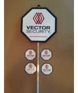 Reflective VECTOR Security Yard Sign w/ Stake + 4 Door/Window Decals *BR... - $24.99