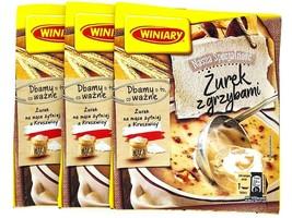 WINIARY Zurek white rye soup with mushrooms 3 PACK  FREE US SHIPPING - $9.36