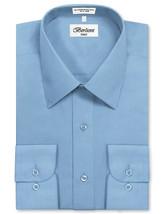 Berlioni Italy Men's Classic Short Sleeve Light Blue Dress Shirt w/Defect XL image 3