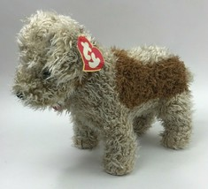 Ty Toffee 2nd Gen Large Terrier Dog Plush 2 Tone Tan Rare Korea 1992 Vtg - $38.69