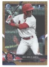 2018 Bowman Mega Box Chrome Gold #BCP121 Jose Adolis Garcia Cardinals NM... - $189.99