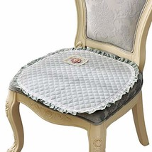 PANDA SUPERSTORE Floral Chair Pads Lovely Lace Cotton Seat Cushions for Kitchen